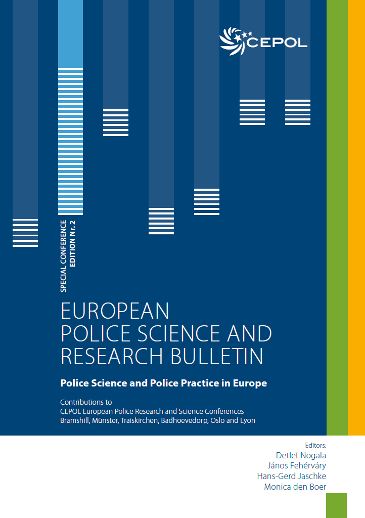 Cover page Special Conference Edition Nr. 2 of the European Police Science and Research Bulletin